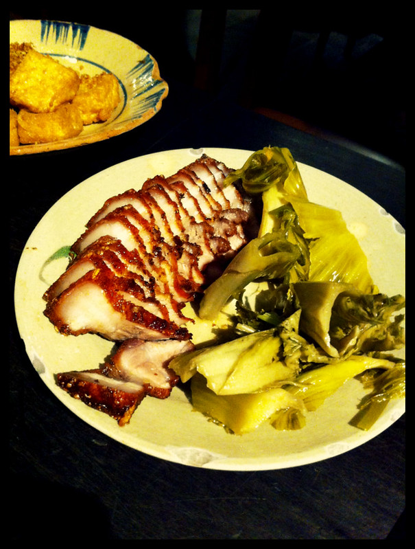 roast pork with pickled mustard