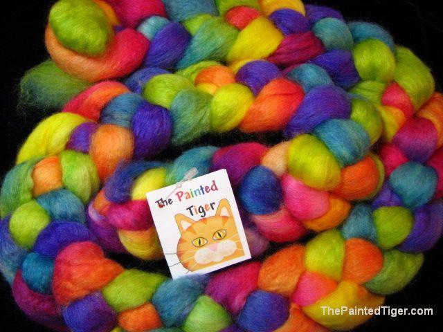 Tropical Rainbow BFL Silk