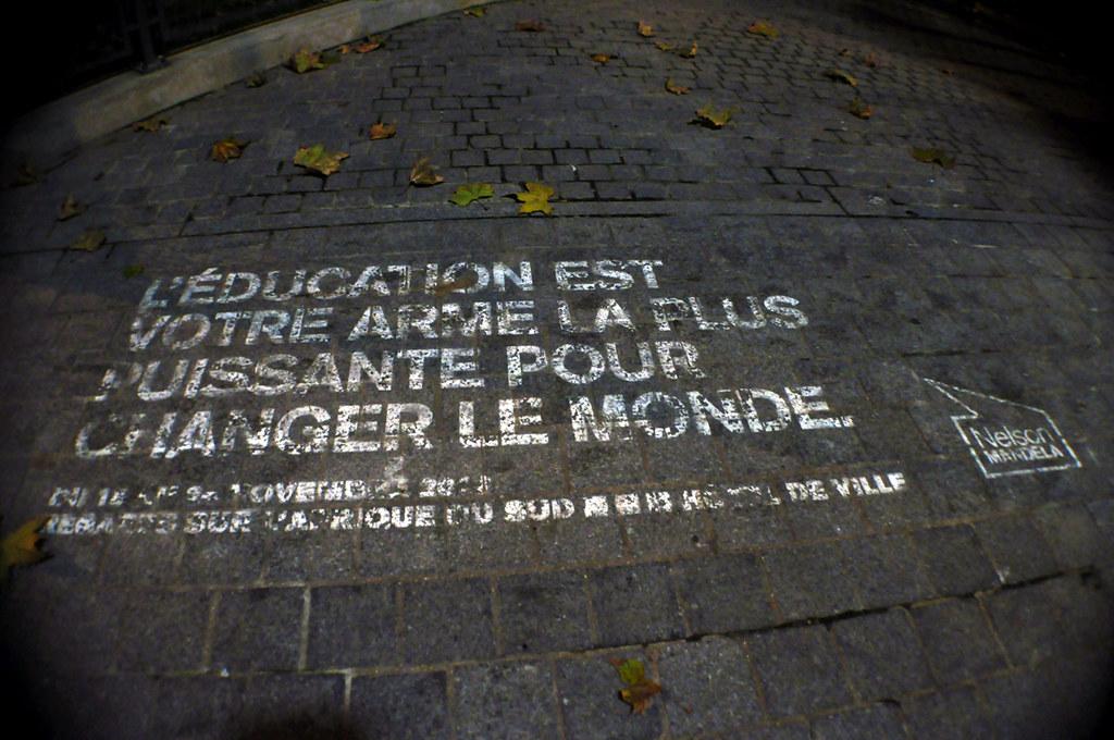 L' ÉDUCATION EST VOTRE ARME LA PLUS PUISSANTE POUR CHANGER LE MONDE