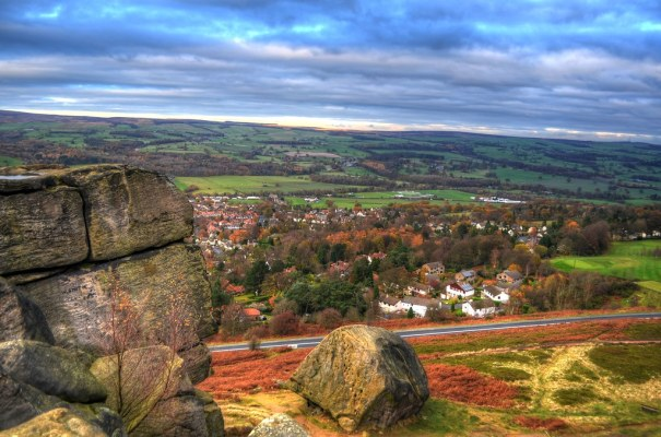 Cow and Calf Over Ilkley
