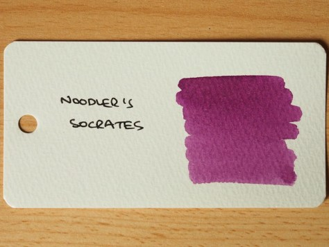 Noodler's Socrates - Ink Review - Word Card