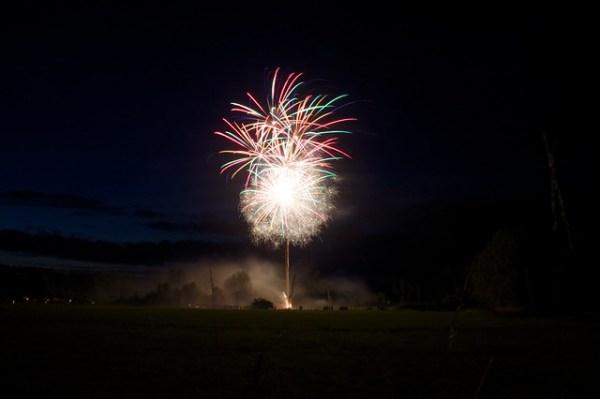 Ma photo préféré du feu d'artifice du 14 juillet 2014 à Sennevoy le bas