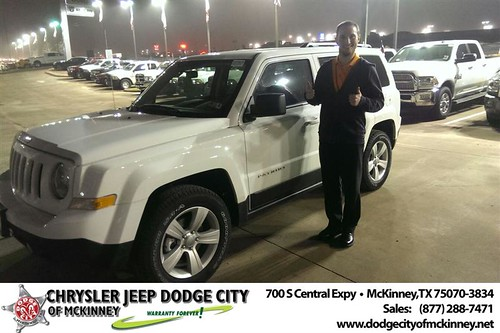 Thank you to Franklin Haller on your new 2014 #Jeep #Patriot from Joe Ferguson  and everyone at Dodge City of McKinney! #NewCarSmell by Dodge City McKinney Texas