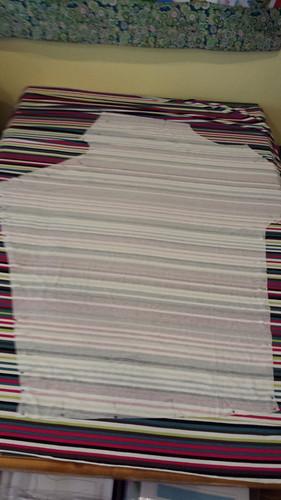 stripe matching the Draped T-Dress