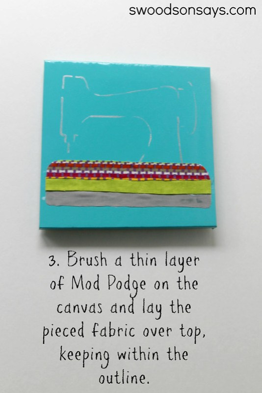DIY Fabric Scrap Art - Swoodson Says