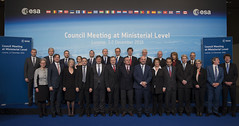 European ministers and representatives at the ESA Council at Ministerial Level, at Lucerne, on 1 December 2016.