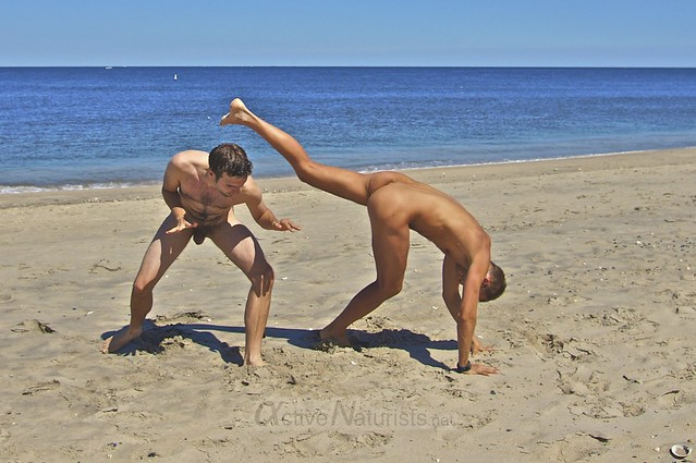 naturist 0013 capoeira @ Gunnison Beach, Sandy Hook, NJ, USA
