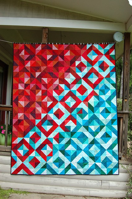 Lava Meets Sea Quilt Completed