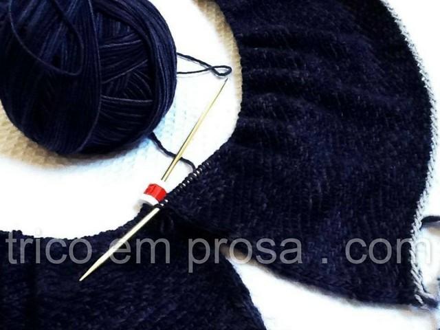 tricô em prosa - um cachecol para o Diogo