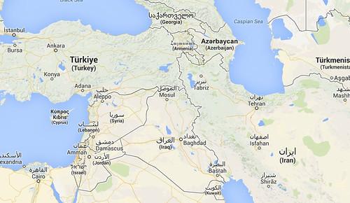Mapa Turquía - Irán