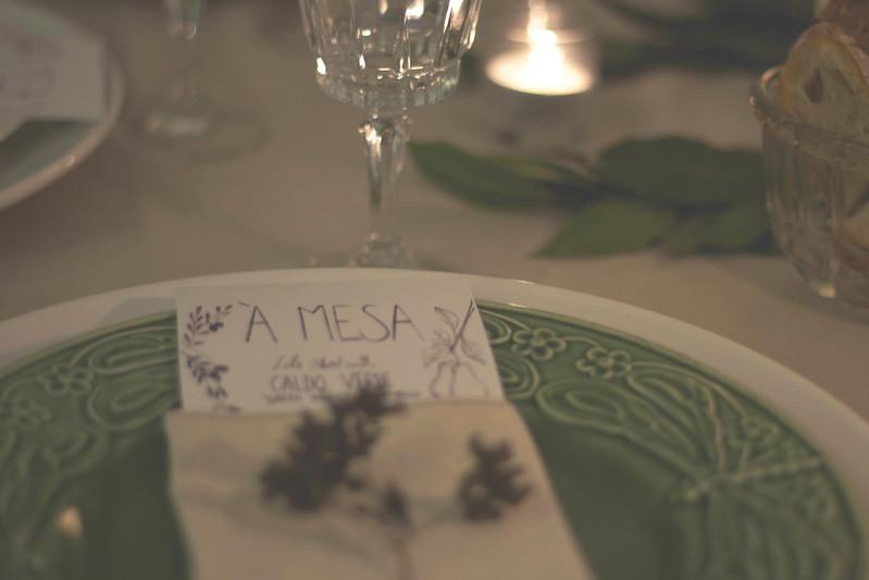 menu on plate detail