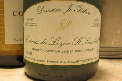 Domaine Jo Pithon 1996 Coteaux du Layon St. Lambert