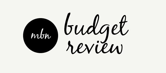 Budget Review Banner // mybelovednewo.com