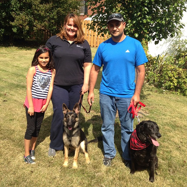 Trina went on trial today with her new family! #happyendings #dontbecry