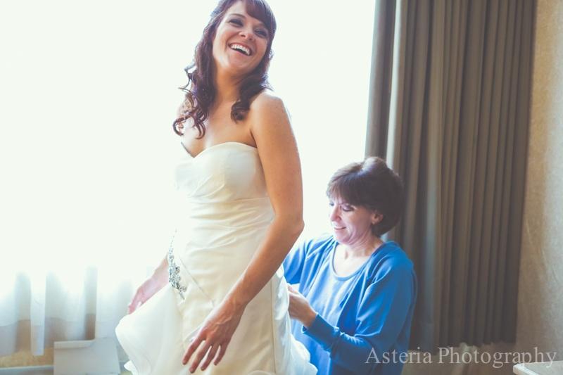 Mother of the bride buttoning dress (Andrew & Lauren)