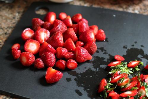 tiny end-of-season strawberries