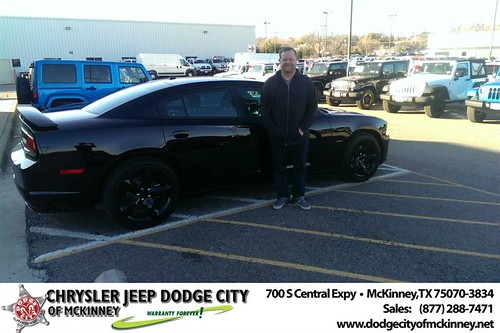 Thank you to Steven Holle on your new 2014 #Dodge #Charger from Joe Ferguson  and everyone at Dodge City of McKinney! #NewCarSmell by Dodge City McKinney Texas