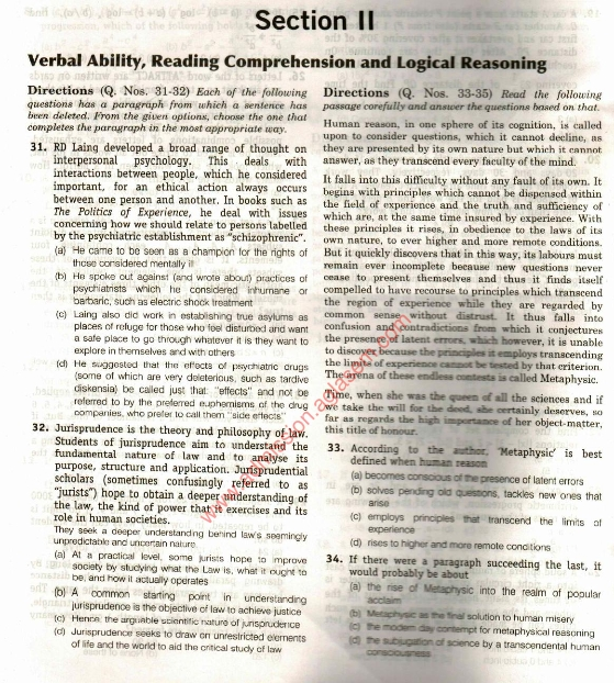 CAT Sample Paper Solved Sample Papers PDF - Download