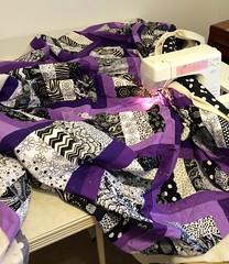 Purple Quilt-quilting in progress