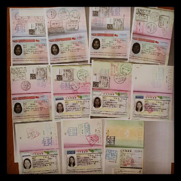 Japan visa collection