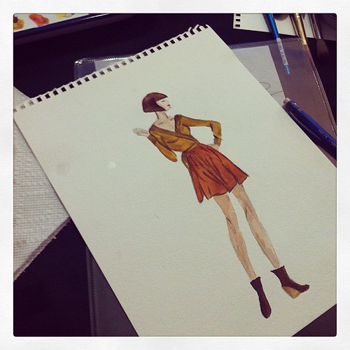 And then I took a fashion illustration class with @itsmseliza111 & @ddisciplines