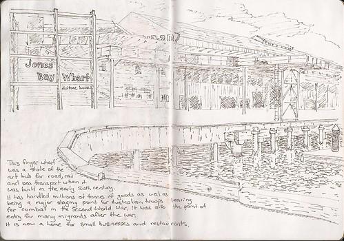 Jones Bay Wharf by Lionel G King