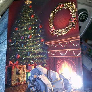 Our first Christmas card arrived from Bethesda Zenimax. How many game references can you spot?