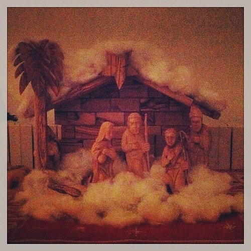 Day 13 - Mary & Joseph couldn't leave Bethlehem tonight as the snow was too deep.  Going with the snow theme.  It's snowing! by nikki.j.thorpe