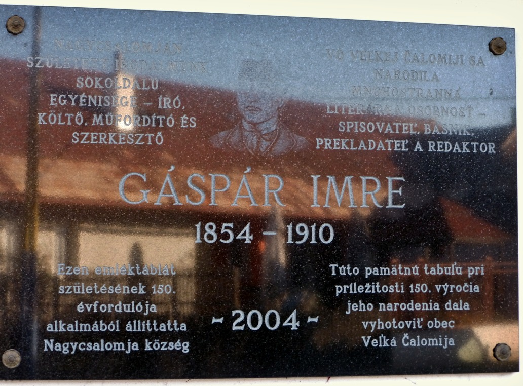 Pamätná tabuľa I. Gásparovi