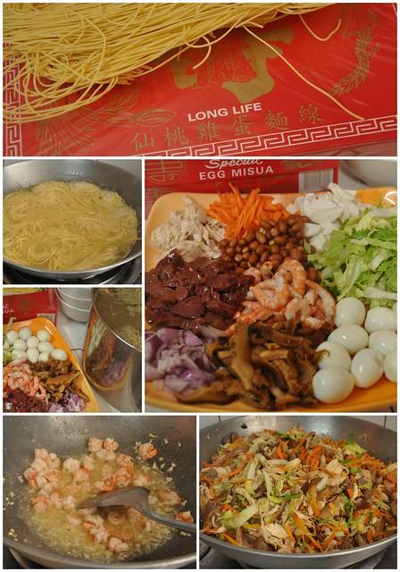 Birthday Misua Ingredients