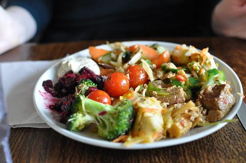 Delicious vegetarian plate at Hermans - Stockholm