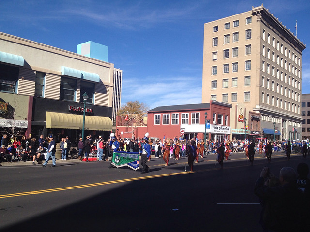 High School Marching Band In Downtown Colorado Springs