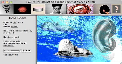 Screen shot of Hole Poem
