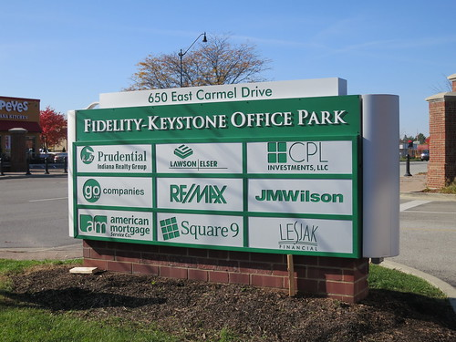 Fidelity Keystone Office Park Monument Sign by Redirections Sign & Design