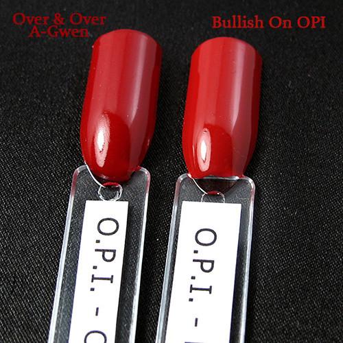 O.P.I. Over & Over A-Gwen vs. Bullish On OPI