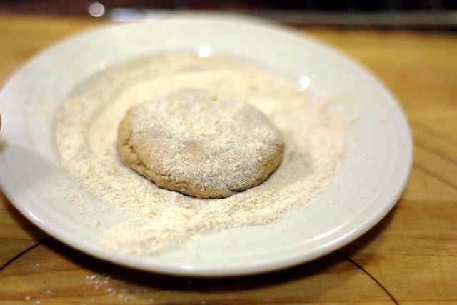 Little roti ball, floured