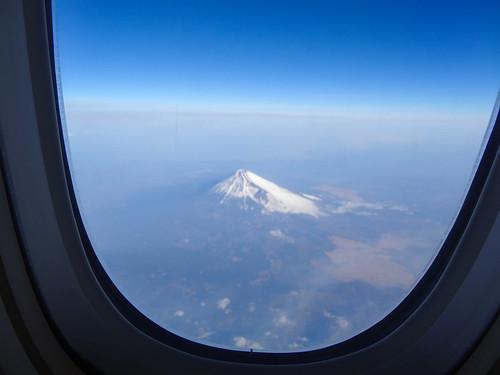 1K座席からの富士山