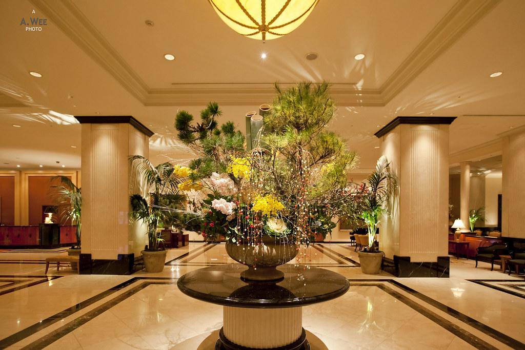 Flower in the lobby