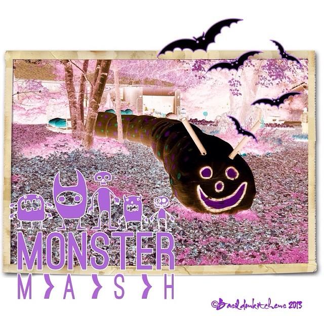 Oct 31 - spooky {yesterday's hay-bale worm with a spooky make-over} #photoaday #spooky #halloween #langridge #langridgefarm #princeedwardcounty #rhonnadesigns #fun