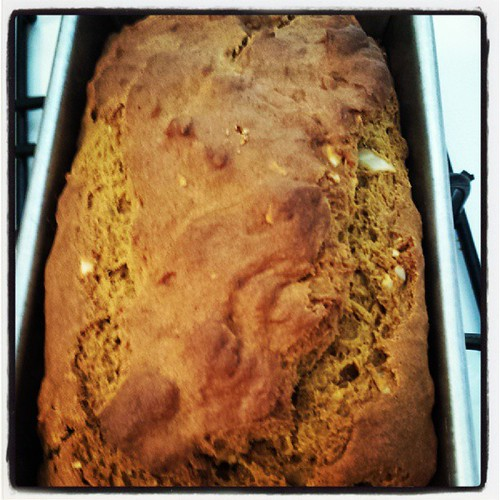 #pumpkinbananabread #purty #fallfoods #fallmenu #foodie #ieatthereforeiam by Jennifer O'Connell