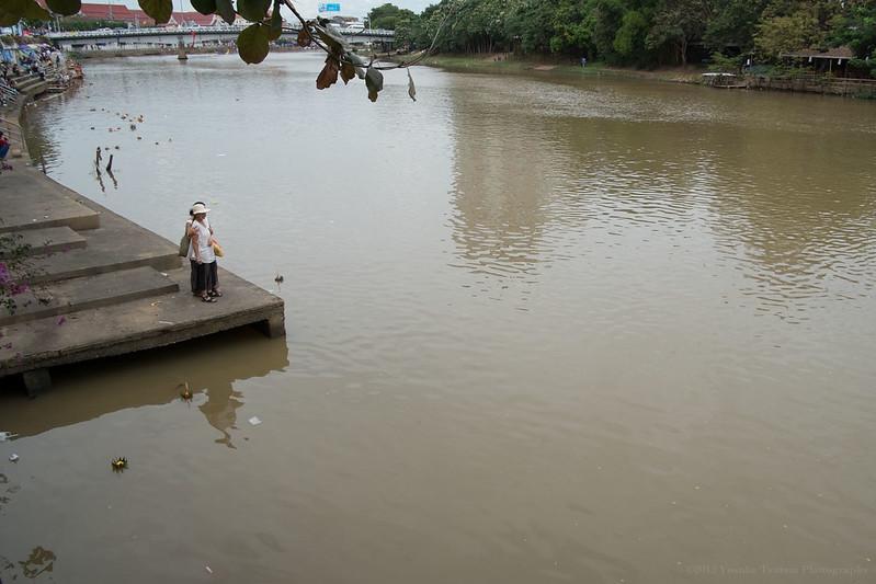 Floating Krathong, Ping River, Chiang Mai, Thailand