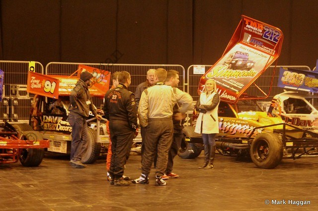 Behind the live arena show at the Autosport International Show 2014