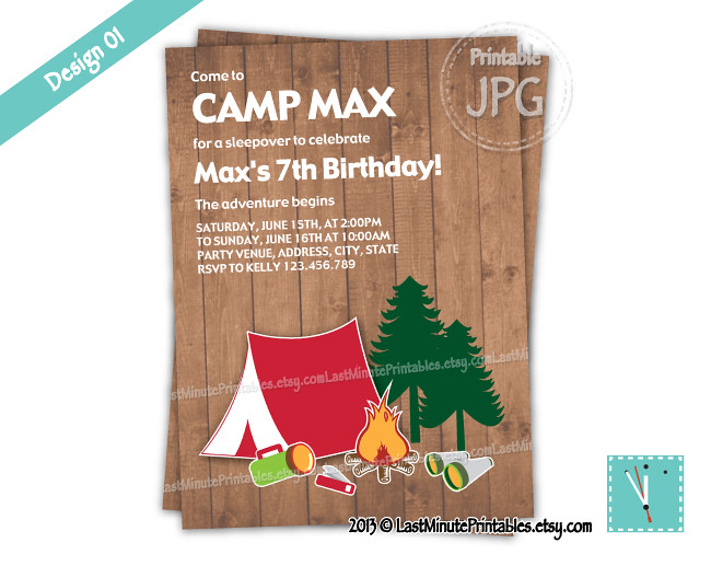 USD 6.99, campout, camp, birthday, party, printable, invitation, card, campfire, holiday, happy, camper, collage, template, clipart, page, sheet, kit, vintage, digital