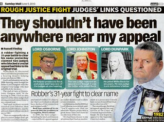 ROUGH JUSTICE FIGHT JUDGES'S LINKS QUESTIONED Sunday Mail 09 June 2013