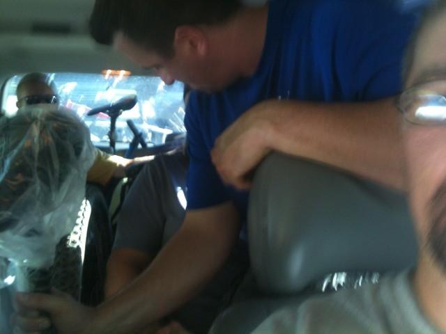 cozy van ride