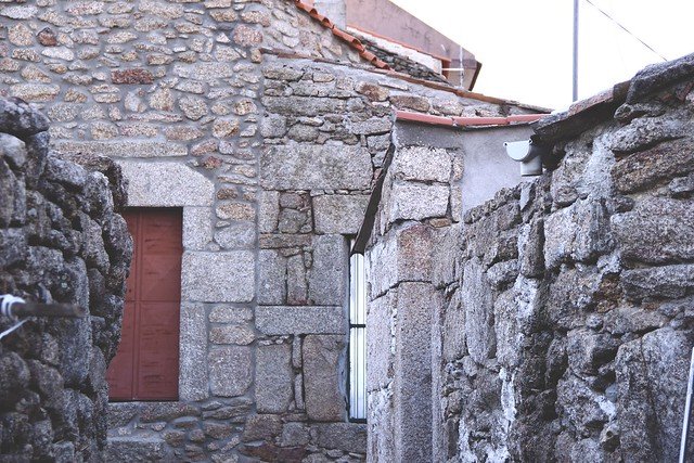 terracota door and stone houses badamalos
