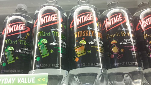 Vintage Limited Edition Mint Mojito, Whiskey Sour, and Peach Bellini Sparkling Seltzer Water
