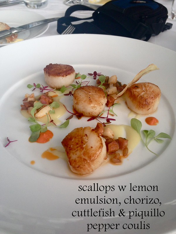 scallops w lemon emulsion