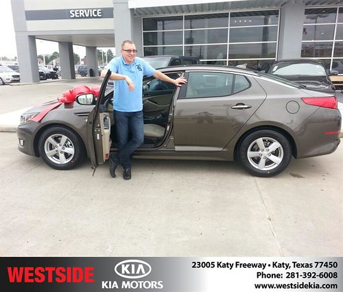 Thank you to Andrey Platunov on your new 2014 #Kia #Optima from William Hadnott and everyone at Westside Kia! #NewCarSmell by Westside KIA