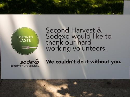 Toronto Taste 2013 Volunteer Thanks